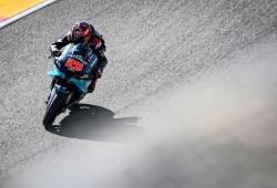 Quartararo logra la pole del GP de Aragón tras una dura caída en el FP3