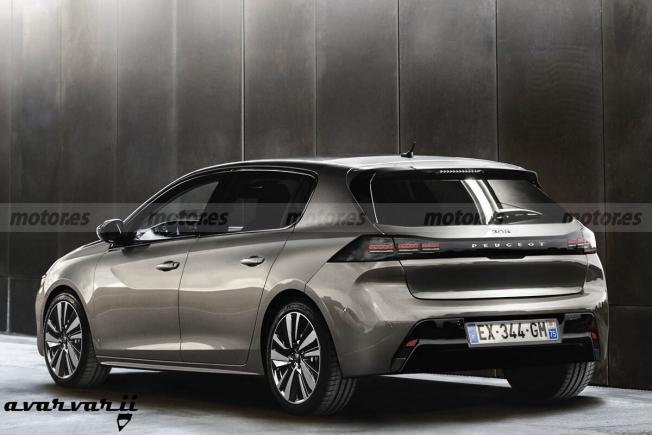 Recreación del Peugeot 308 2021