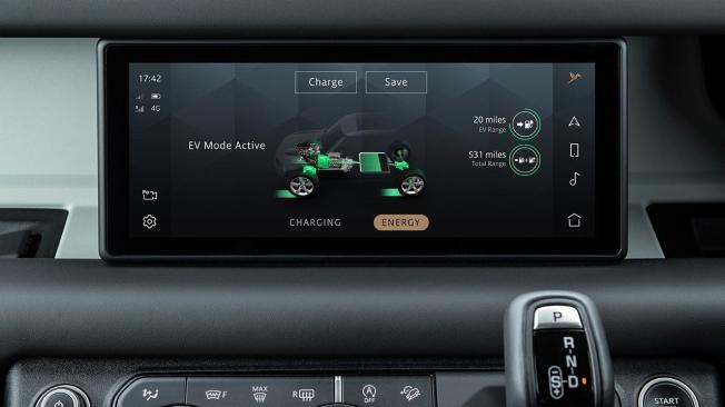 Land Rover Defender P400e - interior