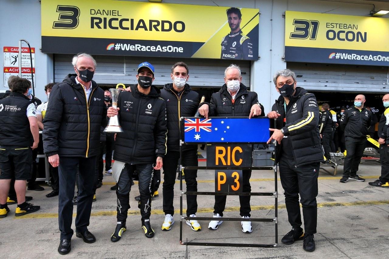 Ricciardo devuelve a Renault al podio 9 años después: «¡Lo conseguimos!»