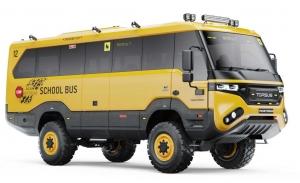 El Torsus Praetorian es un bus escolar diseñado para el fin del mundo