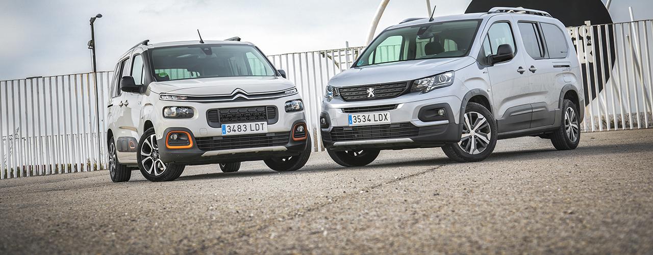 Prueba comparativa Citroën Berlingo vs Peugeot Rifter, para lo que haga falta (con vídeo)