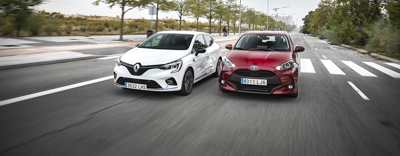 Prueba comparativa Toyota Yaris Hybrid vs Renault Clio E-Tech, eficiencia urbana (con vídeo)