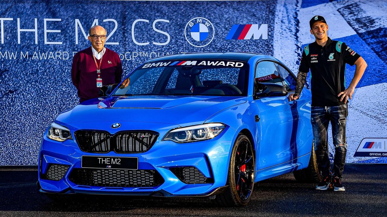 Fabio Quartararo, rey de las poles de MotoGP, gana un BMW M2 CS