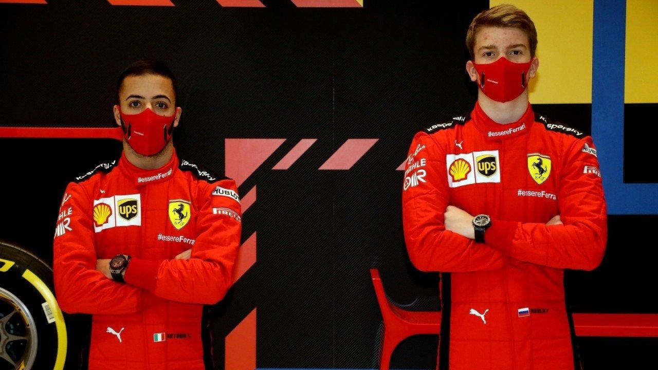 Ferrari convoca a Shwartzman y Fuoco; Sainz no estará en el test de Abu Dhabi
