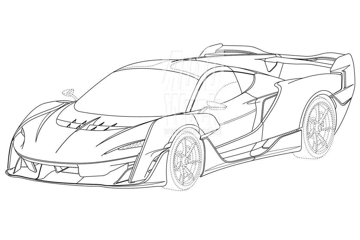 Una filtración del registro de patentes desvela el diseño del futuro McLaren Sabre 2024