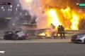 Grosjean sufre el peor accidente en F1 en muchos años: coche partido en dos y ardiendo