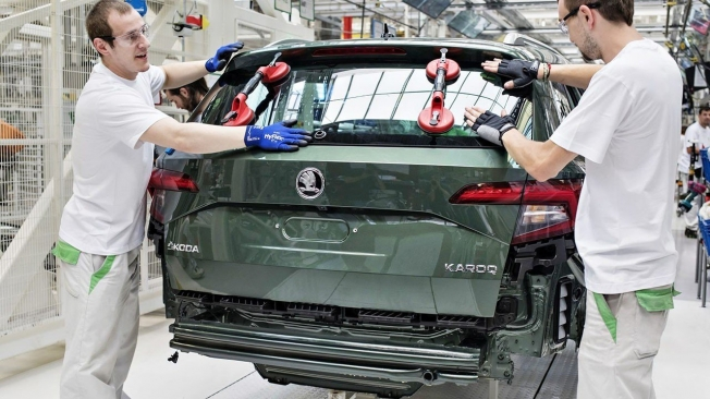 Production of the Skoda Karoq