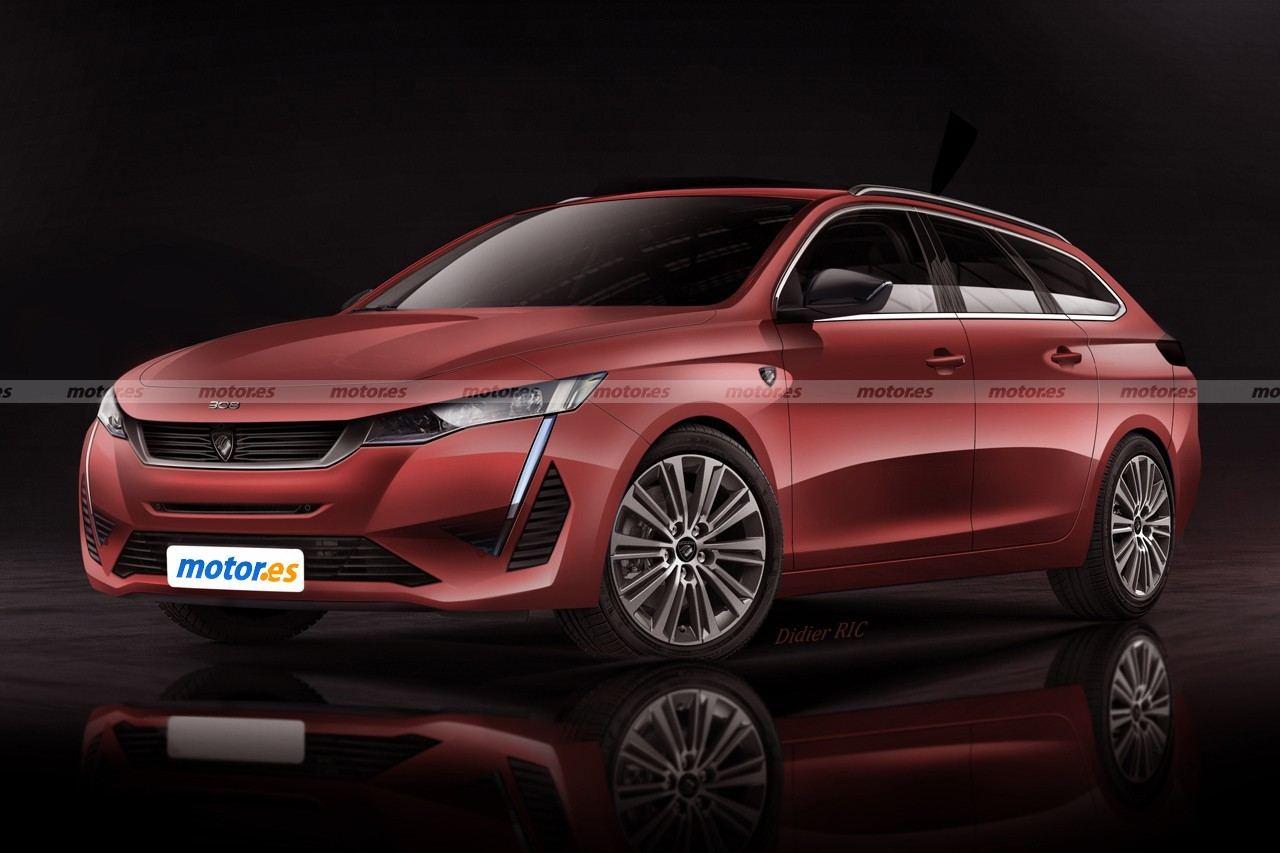 Nuevo adelanto del futuro Peugeot 308 SW 2022, el familiar compacto en camino