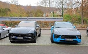 El nuevo Porsche Macan facelift cazado durante sus pruebas junto al Macan actual