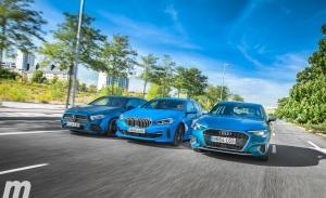 Prueba comparativa Audi A3 Sportback, BMW Serie 1 y Mercedes Clase A (con vídeo)