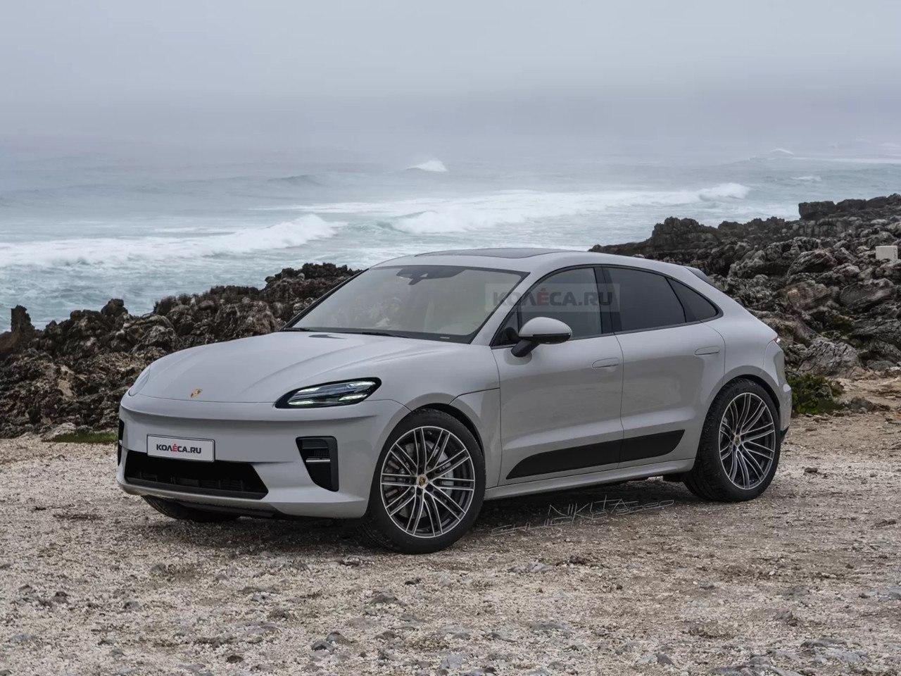 El futuro Porsche Macan EV asoma la cabeza en sus primeros renders