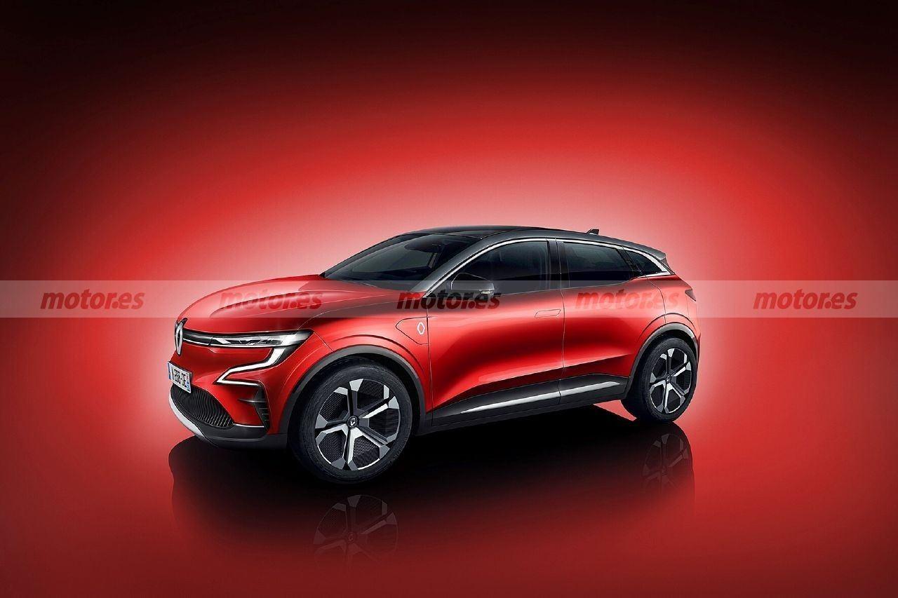 Nueva recreación del futuro Renault Mégane Eléctrico 2021, el crossover del Rombo