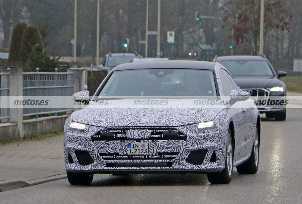 Primeras fotos espía del nuevo Audi A7 L 2022 para China