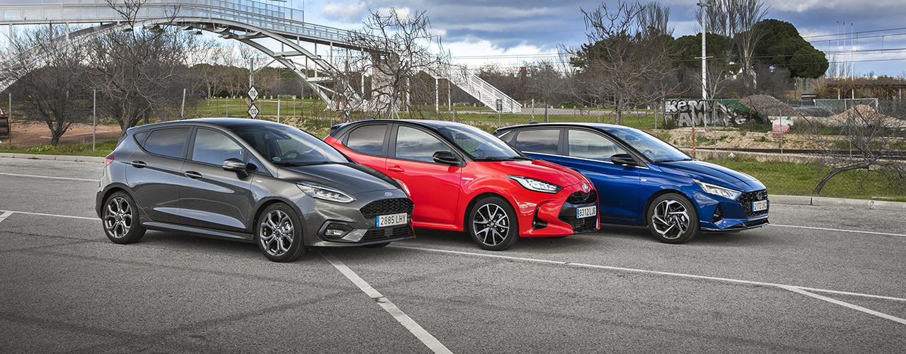 Comparativa Hyundai i20 vs Toyota Yaris vs Ford Fiesta, urbanitas con sello Eco (con vídeo)