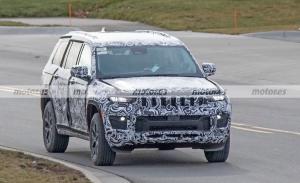 El Jeep Grand Cherokee 2022 de 7 plazas se destapa en nuevas fotos espía