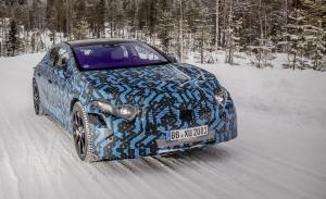 El nuevo Mercedes EQS 2022 demuestra sus prestaciones en las pruebas de invierno