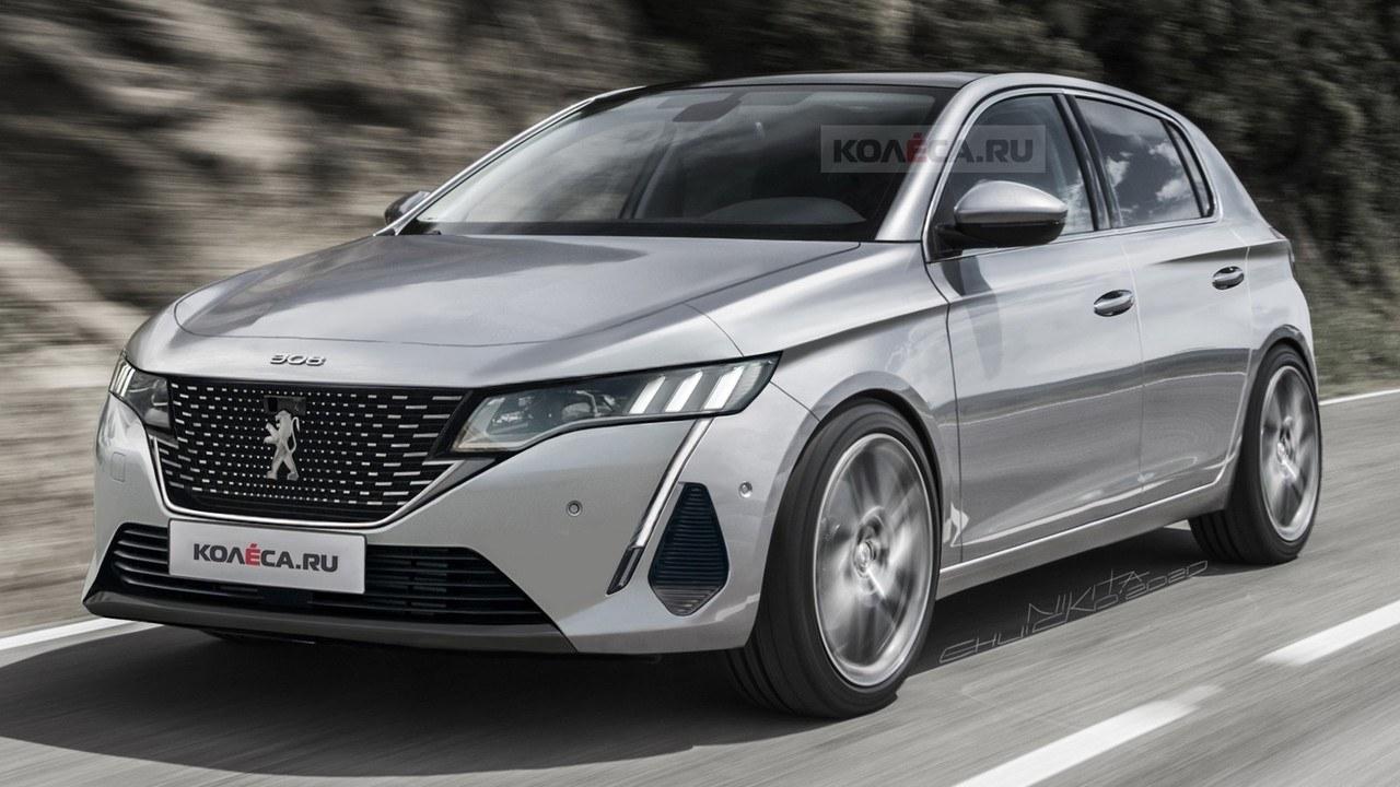 Nueva recreación del Peugeot 308 2021, el compacto estrenará un nuevo estilo
