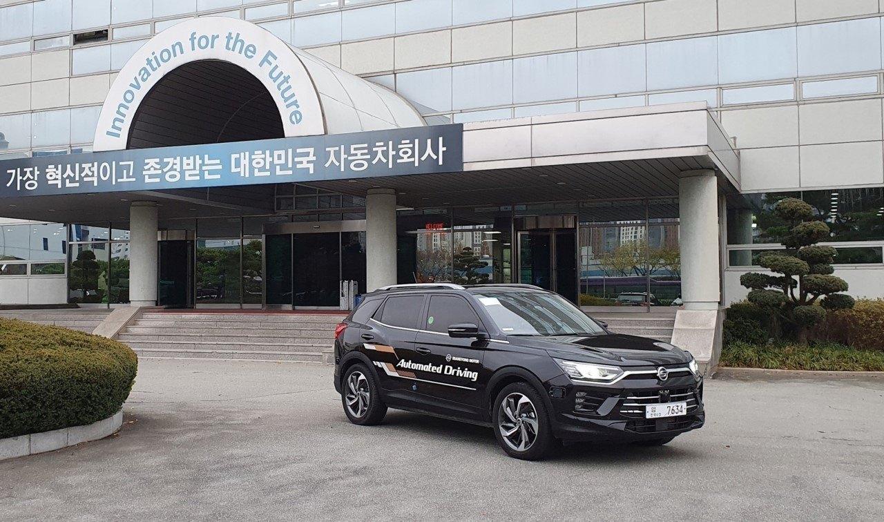 El SsangYong Korando prueba funciones de conducción autónoma del nivel 3