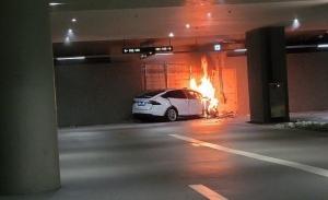 Un Tesla Model X se ha estrellado en un aparcamiento en Seúl por causas desconocidas