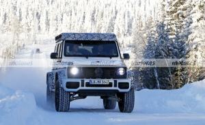 Dúo de prototipos del nuevo Mercedes-AMG G 4x4² 2021 cazados en pruebas con nieve