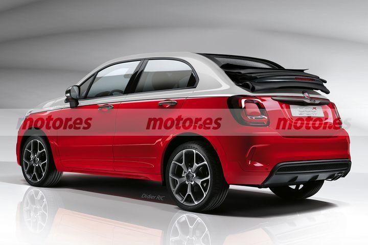 Nueva recreación del FIAT 500X Cabrio, un nuevo SUV descapotable llegará en 2021
