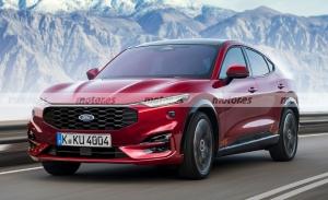 Nueva recreación del Ford Mondeo Evos 2022, un SUV coupé muy atractivo en camino