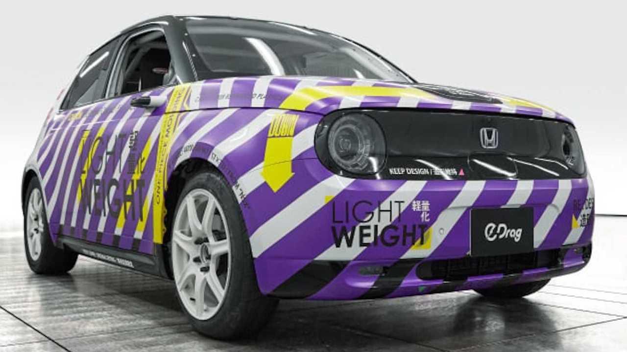 El Honda e de fibra de carbono especialmente desarrollado para drag races