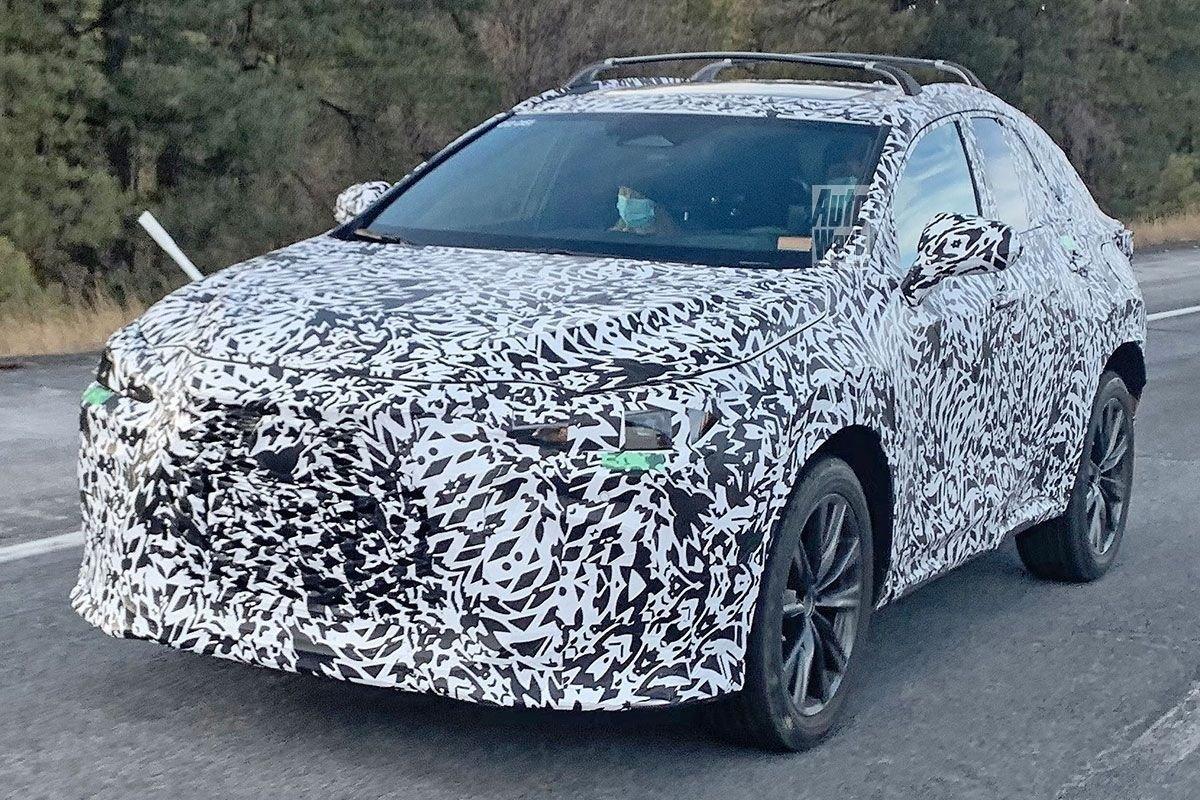 Foto espía Lexus NX 2022 - exterior