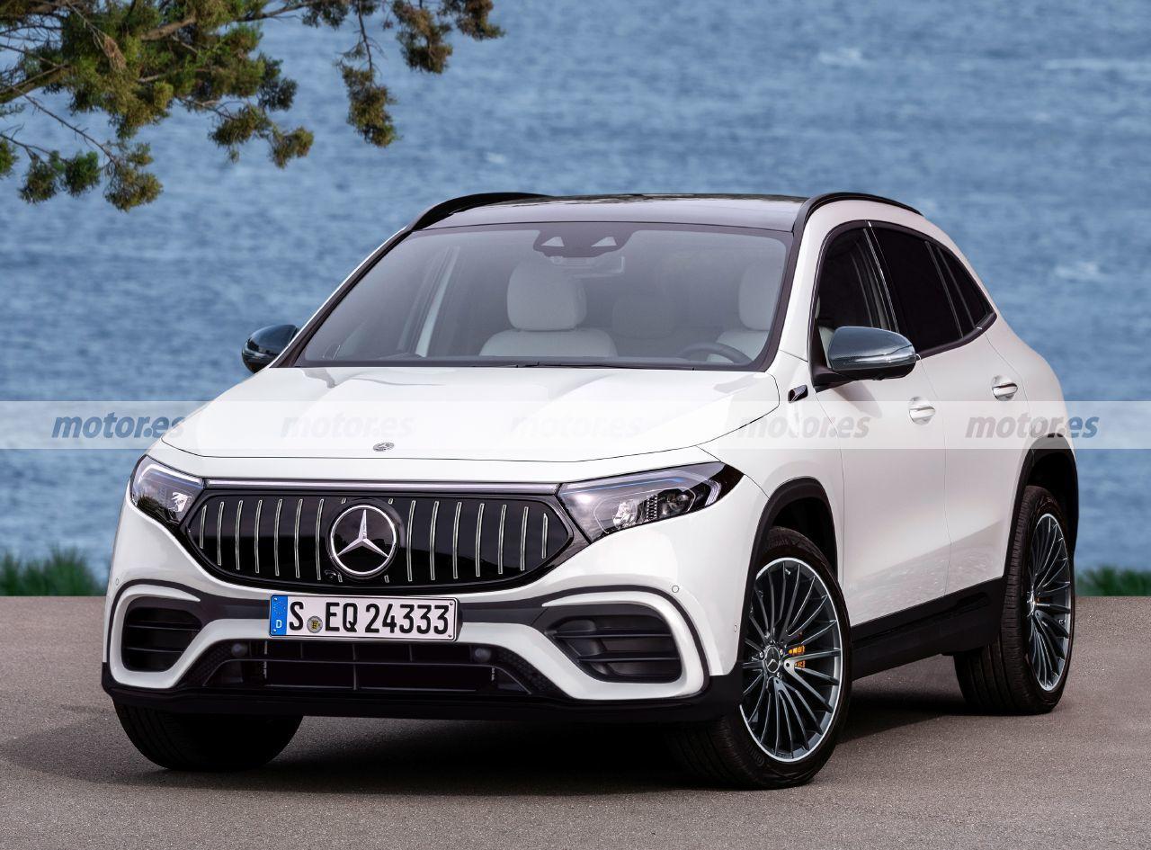 Esta recreación adelanta el futuro Mercedes-AMG EQA 2023, el SUV eléctrico más deportivo