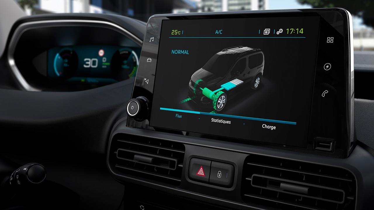 Peugeot e-Partner - pantalla táctil