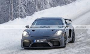 El nuevo Porsche 718 Cayman GT4 RS 2022 regresa a las pruebas invierno