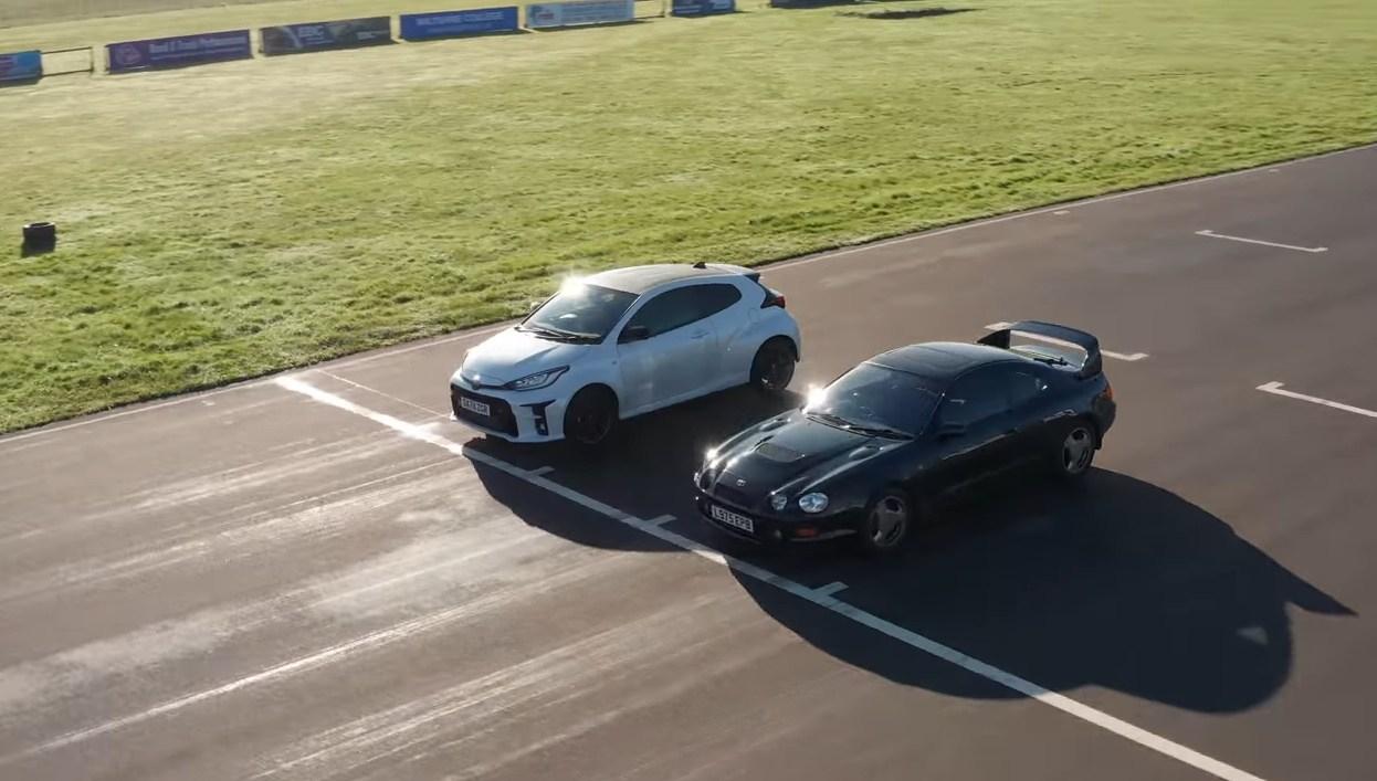 El Toyota GR Yaris se enfrenta en circuito al Toyota Celica GT-Four [vídeo]