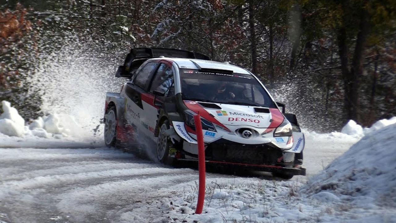 Toyota lamenta el exceso de nieve en su primer test con las gomas Pirelli del WRC