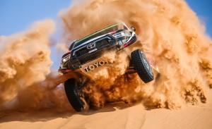 Yazeed Al-Rajhi se reivindica en casa y toca a las puertas de Toyota
