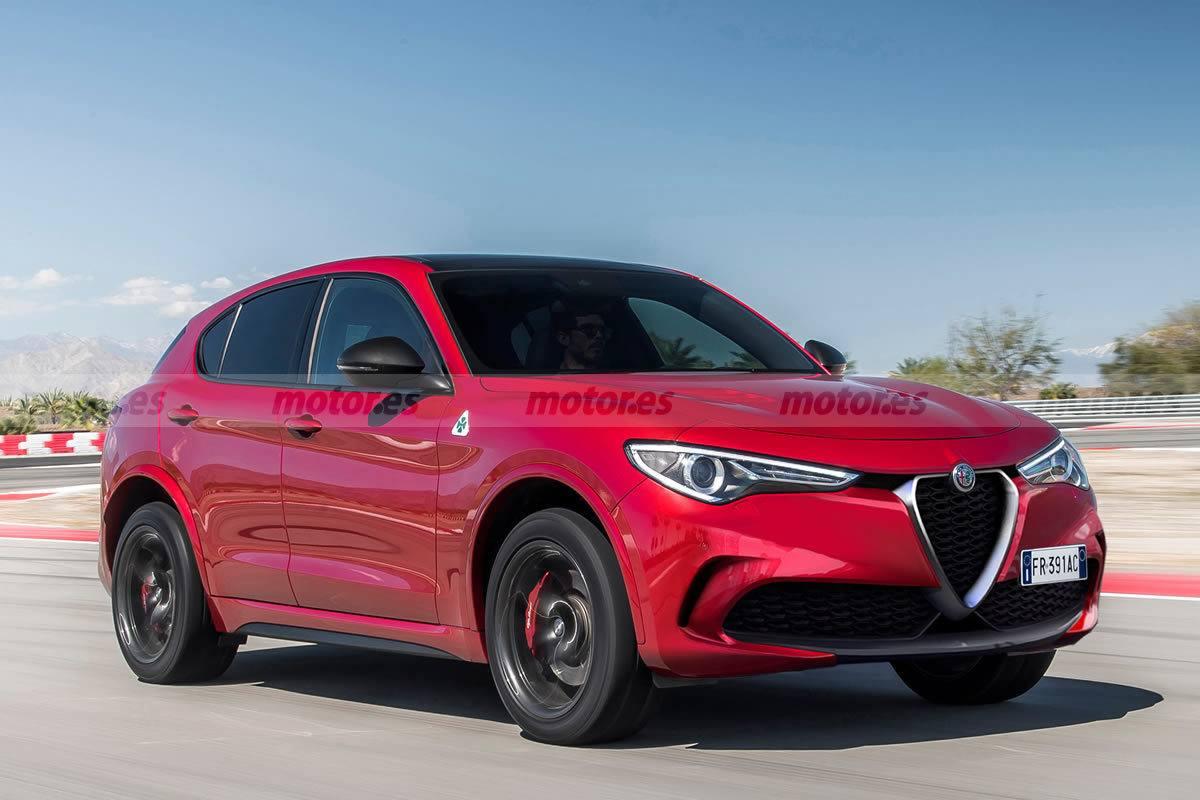 Esta recreación adelanta el Alfa Romeo Stelvio 2022, el SUV deportivo estrena novedades