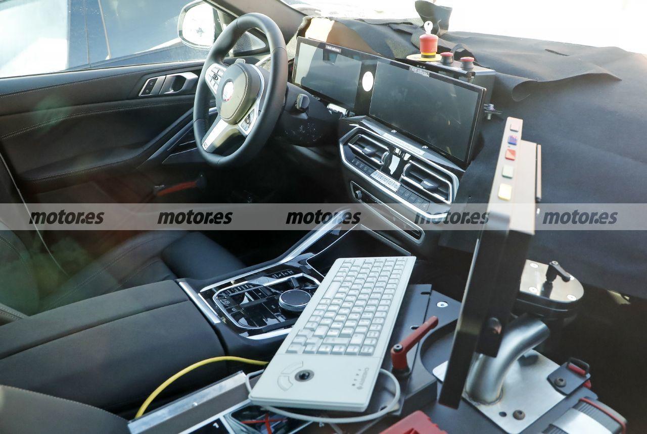 El BMW X6 LCI 2023 heredará el avanzado interior del BMW iX, primeras fotos espía