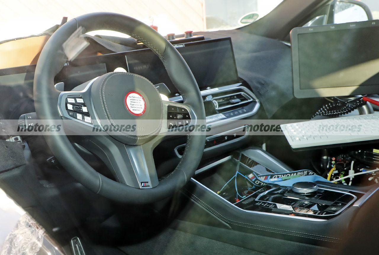 Fotos espía BMW X6 Facelift 2023 - interior