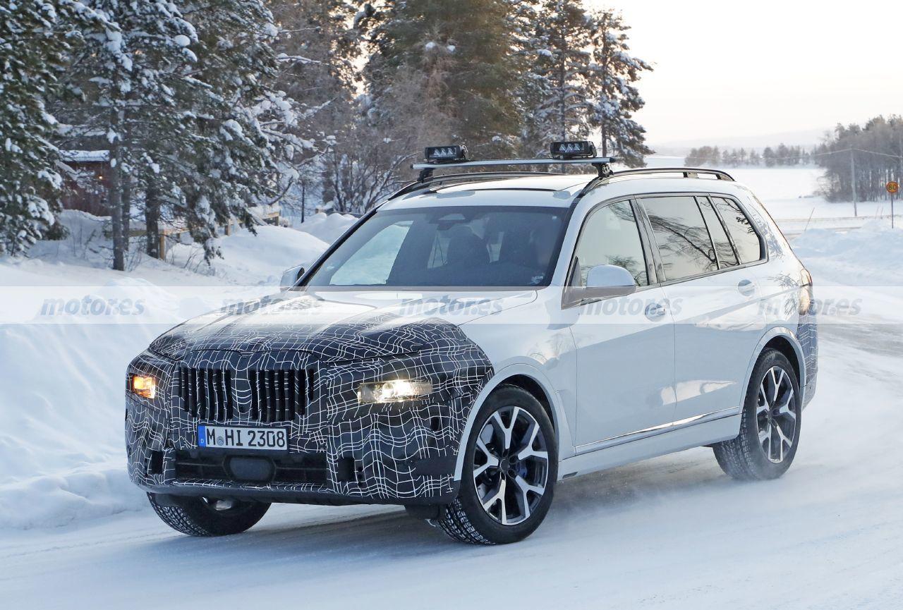Foto espía mula BMW X8 2022 - exterior