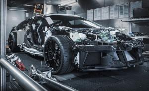 Los prototipos del exclusivo Bugatti Centodieci descubren sus poderosas entrañas