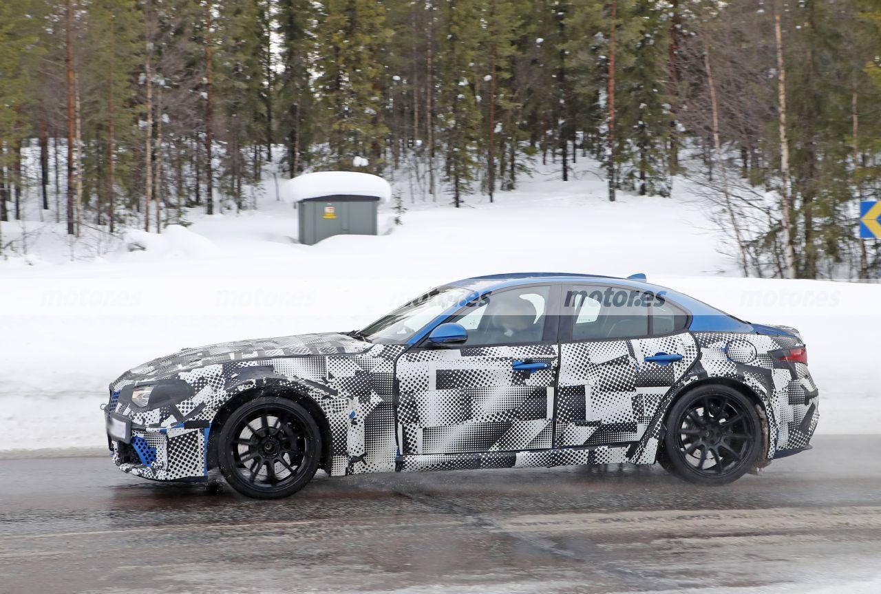 Foto espía mula Maserati GranTurismo 2022 - exterior