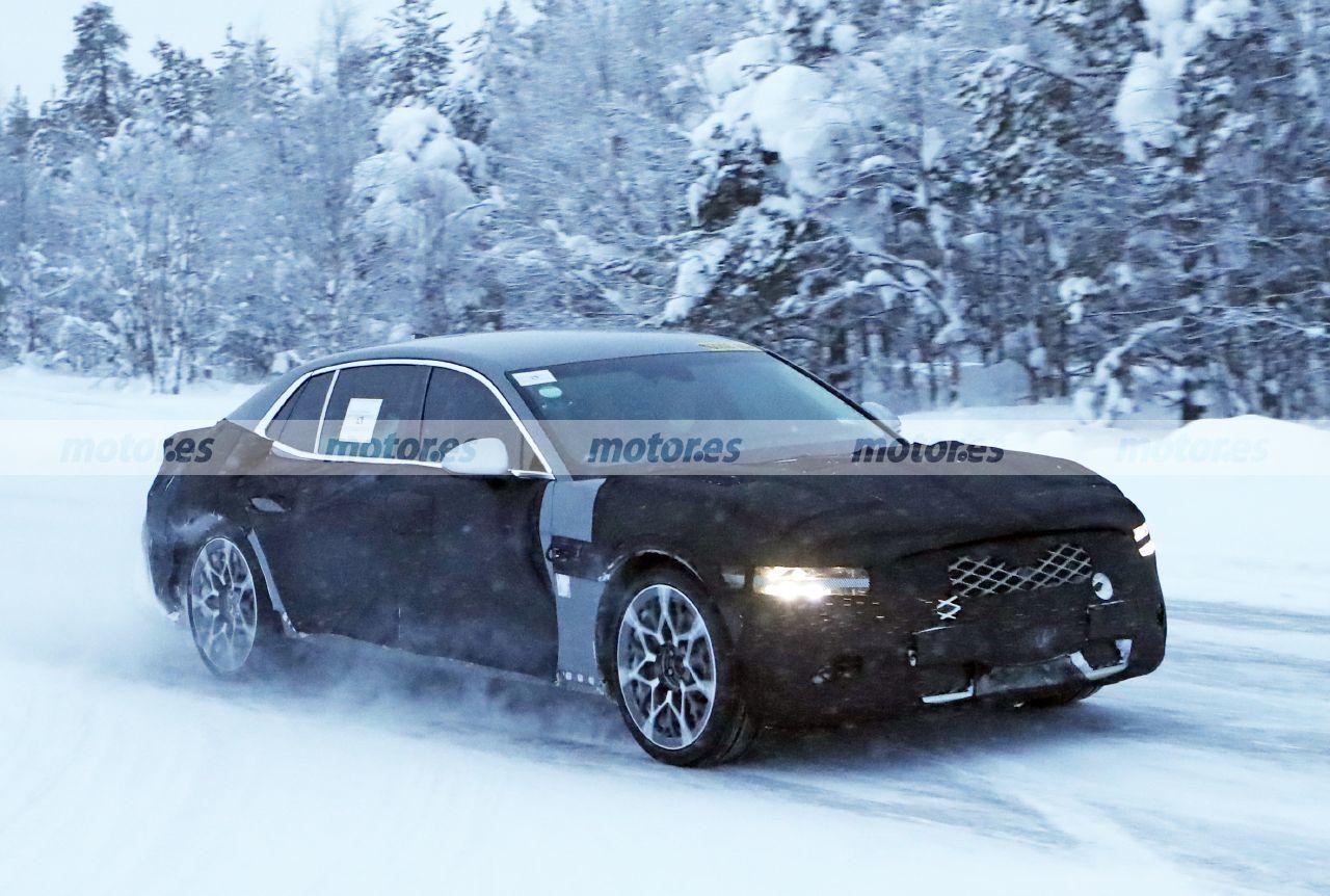 Primeras fotos espía del Genesis G90 2022 en las pruebas de invierno de Europa