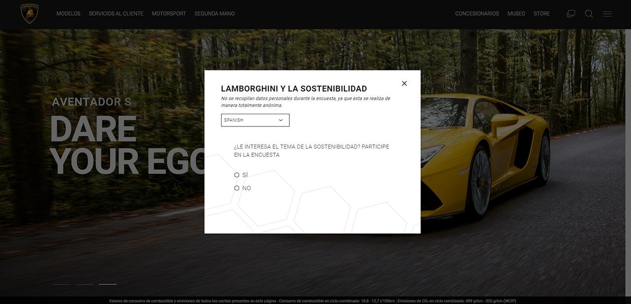 Los futuros híbridos o eléctricos de Lamborghini dependen de una encuesta