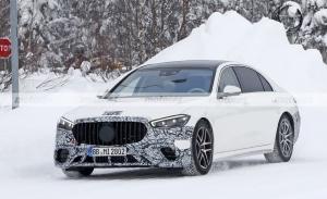 El nuevo Mercedes-AMG S 63 e 2022 se destapa en unas nuevas pruebas de invierno