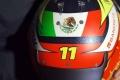 Sergio Pérez desvela su primer casco de F1 para Red Bull