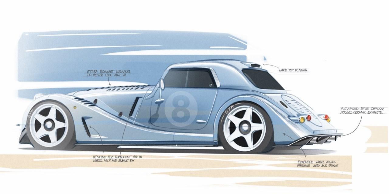 Boceto Morgan Plus 8 GTR 2021