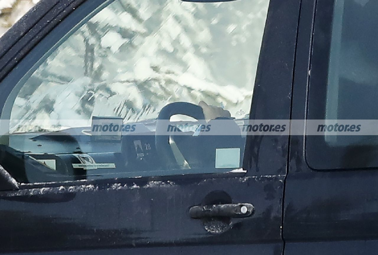 Foto espía Volkswagen ID. Buzz 2022 - interior