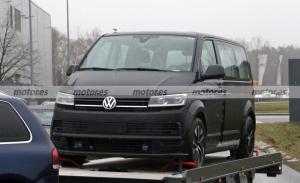 El futuro Volkswagen ID. Buzz 2022 echa a rodar, primeras fotos espía de su mula