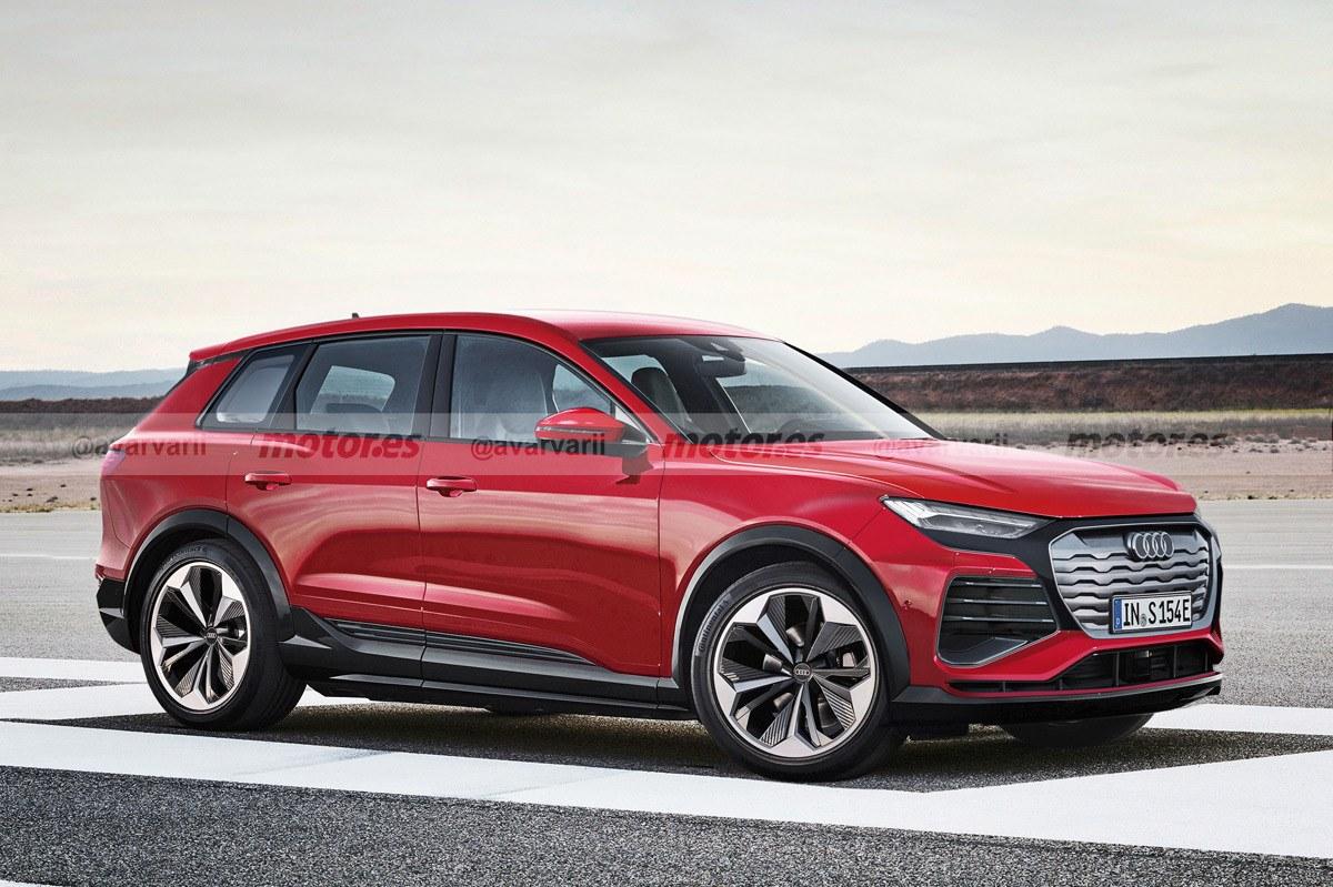 Así será el futuro Audi Q5 e-tron 2022, esta fiel recreación revela su diseño