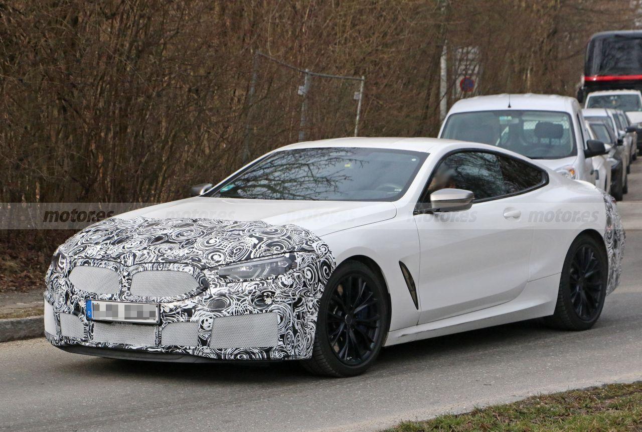 El BMW Serie 8 Coupé va a recibir un facelift y estas son sus primeras fotos espía